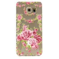 Силиконовый чехол для Samsung Galaxy S6 edge+ с рисунком Розы