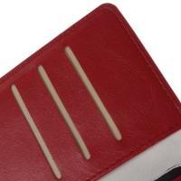 Чехол-футляр для смартфона LeatherGuard красный цвет