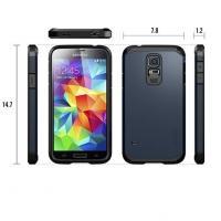 Противоударный гибридный чехол для Samsung Galaxy S5 Silver Full