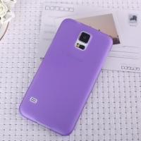 Ультратонкий пластиковый чехол для Samsung Galaxy S5 фиолетовый