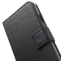 Чехол книжка для Samsung Galaxy Alpha черный