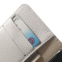Чехол книжка для Samsung Galaxy Alpha белый LitchiCase