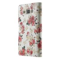 Чехол книжка для Samsung Galaxy A5 White Flower Pattern