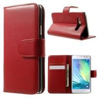 Чехол книжка для Samsung Galaxy A3, Galaxy A3 Duos - Красный
