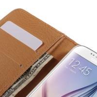 Чехол книжка для Samsung Galaxy S6 White Flower Pattern