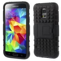 Противоударный гибридный чехол для Samsung Galaxy S5 mini черный