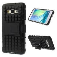 Гибридный противоударный чехол для Samsung Galaxy A3 - черный
