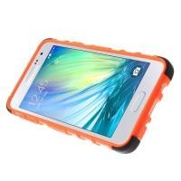 Гибридный противоударный чехол для Samsung Galaxy A3 - оранжевый