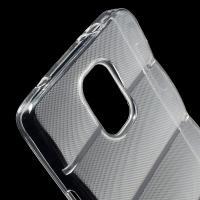 Силиконовый чехол для Samsung Galaxy Note 4 прозрачный противоскользящий