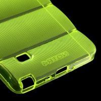 Силиконовый чехол для Samsung Galaxy Note 4 зеленый противоскользящий