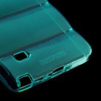 Силиконовый чехол для Samsung Galaxy Note 4 синий противоскользящий