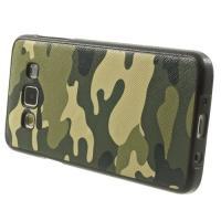 Силиконовый чехол для Samsung Galaxy A3 с орнаментом Хаки