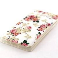 Силиконовый чехол для Samsung Galaxy A5, Galaxy A5 Duos - White and Rose Flowers