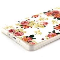Силиконовый чехол для Samsung Galaxy A7, Galaxy A7 Duos - White and Rose Flowers
