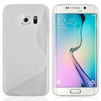 Силиконовый чехол для Samsung Galaxy S6 edge прозрачный S-образный