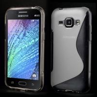 Силиконовый чехол для Samsung Galaxy J1 прозрачный S-Shape