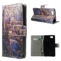 Чехол книжка для Sony Xperia Z1 Compact орнамент Crystal Castle