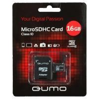 Карта памяти Micro SDHC QUMO 16 GB