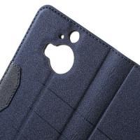 Чехол книжка для HTC One M9+ синий Mercury CaseOn