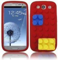 Силиконовый Лего чехол для Samsung Galaxy S 3 красный