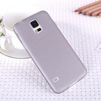 Ультратонкий пластиковый чехол для Samsung Galaxy S5 серый
