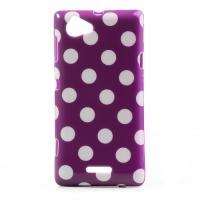 Силиконовый чехол для Sony Xperia L фиолетовый Bubble
