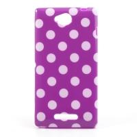 Силиконовый чехол для Sony Xperia C фиолетовый Bubble