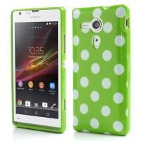 Силиконовый чехол для Sony Xperia SP зеленый Bubble