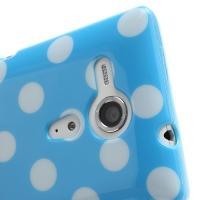 Силиконовый чехол для Sony Xperia SP голубой Bubble