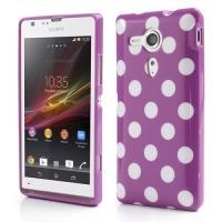 Силиконовый чехол для Sony Xperia SP фиолетовый Bubble
