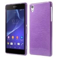 Силиконовый чехол для Sony Xperia Z1 фиолетовый Shine