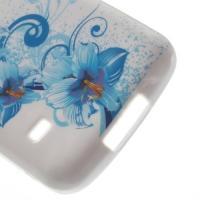 Силиконовый чехол для Samsung Galaxy S5 mini Blue Flowers