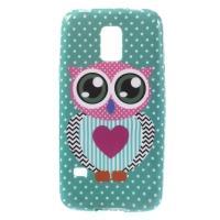 Силиконовый чехол для Samsung Galaxy S5 mini Abstract Owl