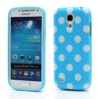Силиконовый чехол для Samsung Galaxy S4 mini голубой Bubble