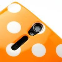 Силиконовый чехол для Sony Xperia S Bubble оранжевый