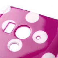 Силиконовый чехол для Sony Xperia Acro S фиолетовый Bubble