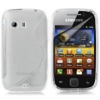 Силиконовый чехол для Samsung Galaxy Y прозрачный