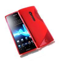 Силиконовый чехол для Sony Xperia TX красный