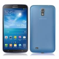 Ультратонкий пластиковый чехол для Samsung Galaxy Mega 6.3 голубой