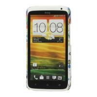 Кейс чехол для HTC One X Colorful flower