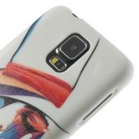 Кейс для Samsung Galaxy S5 орнамент Леди