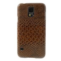 Кейс для Samsung Galaxy S5 Snake Leather Brown