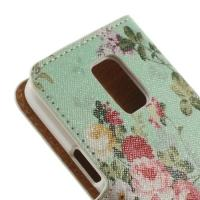 Чехол книжка для Samsung Galaxy S5 mini Mint Flower Pattern