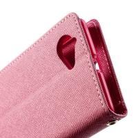 Flip чехол книжка для Sony Xperia L Pink/Rose