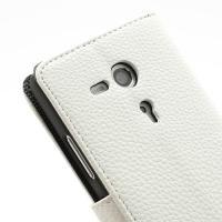 Flip чехол книжка для Sony Xperia SP белый