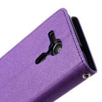 Flip чехол книжка для Sony Xperia SP фиолетовый