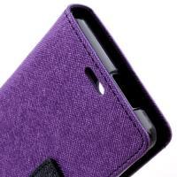 Flip чехол книжка для Sony Xperia ZR фиолетовый