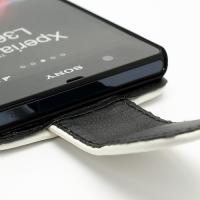 Кожаный чехол для Sony Xperia Z белый