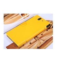 Чехол книжка для Sony Xperia Z желтый Nilkin FRESH
