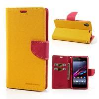 Flip чехол для Sony Xperia Z1 желтый Bubble Gum